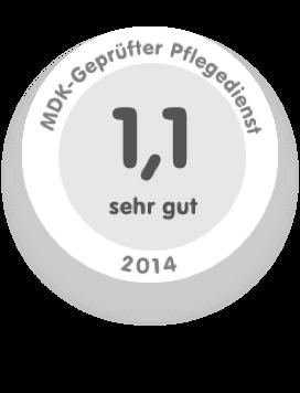 Siegel MDK-Geprüfter Pflegedienst 2014
