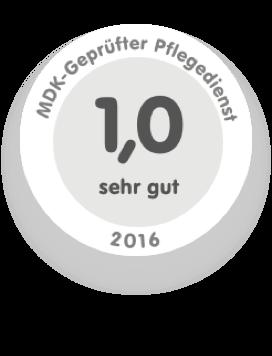 Siegel MDK-Geprüfter Pflegedienst 2016