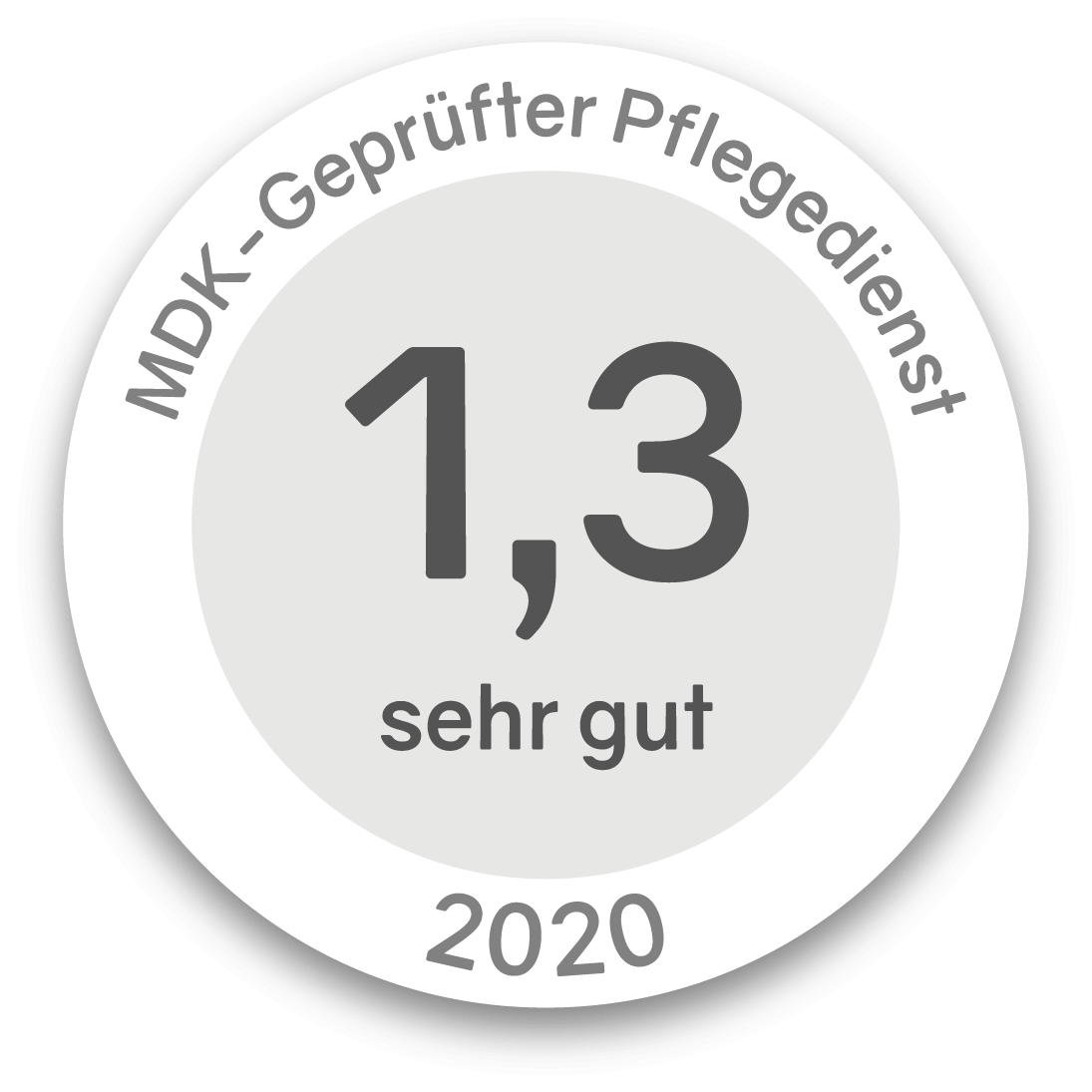 Siegel MDK-Geprüfter Pflegedienst 2020